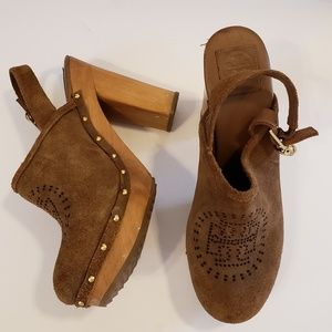 1512c36af2a23 Women s Tory Burch Suede Clogs on Poshmark